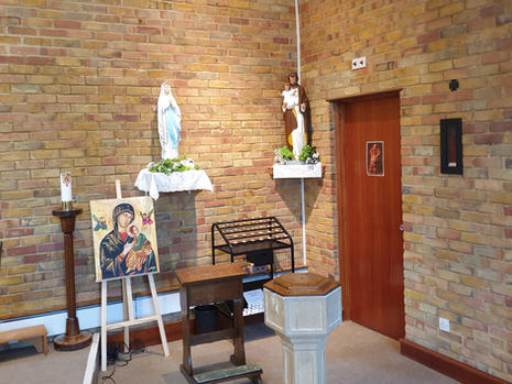 Our Lady and St Joseph's Altars