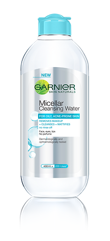Garnier Micellar Cleansing Water Blue 400ml (for oily & acne-prone skin)