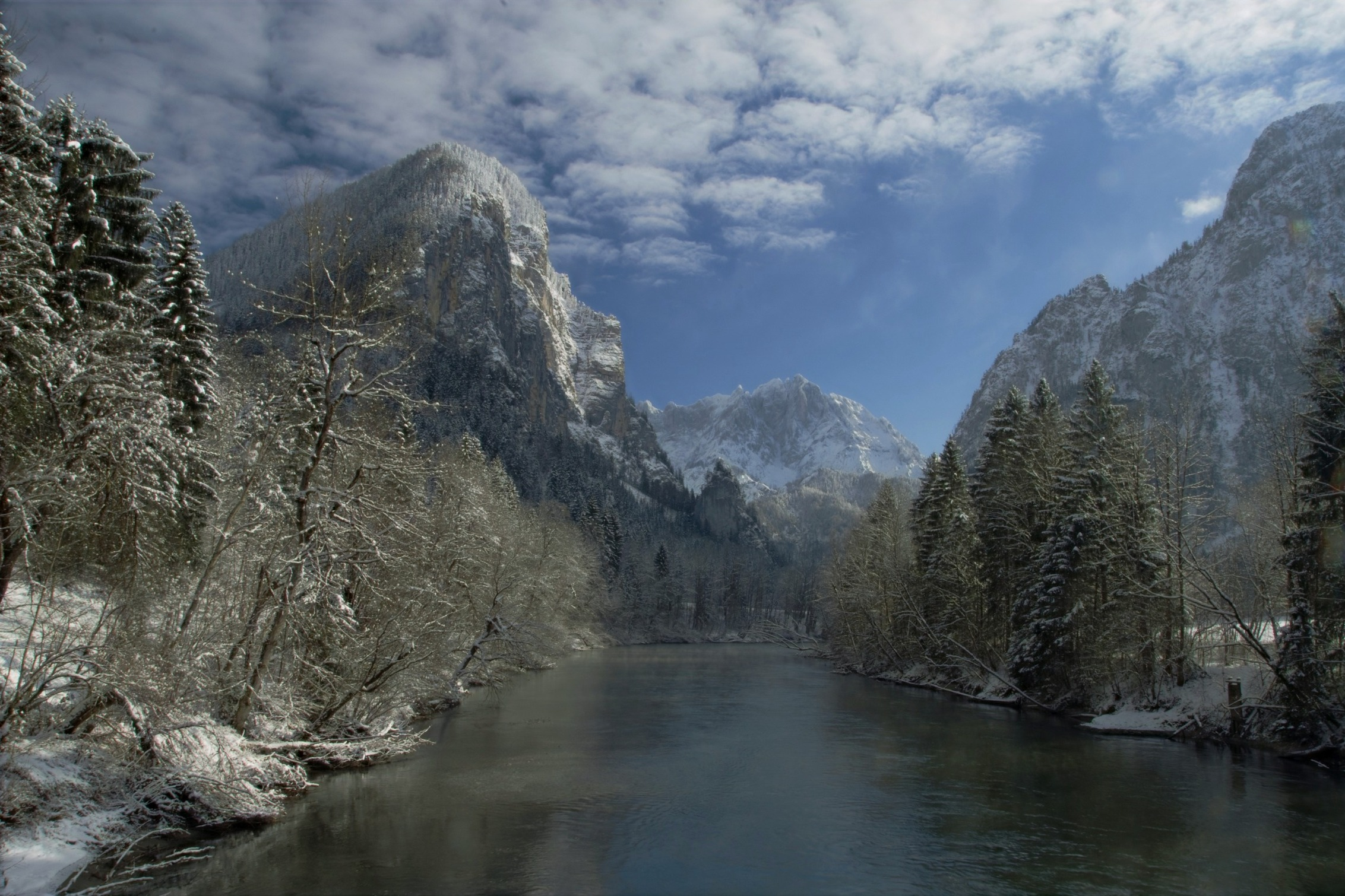 Invierno en el Parque Nacional Gesäuse