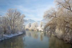 Invierno en el río Enns