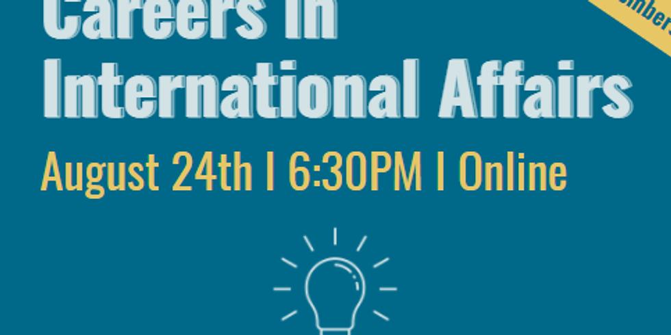 Careers in International Affairs Panel