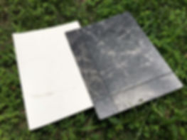 塩化ビニルフロア材、2種類サンプル