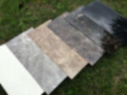 メラミン化粧板、6種類のサンプル