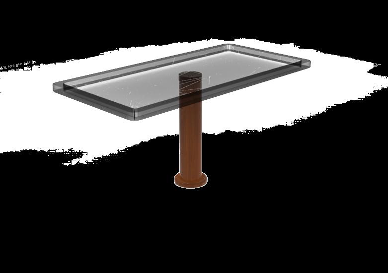 Hard Mounted Wood Pedestal