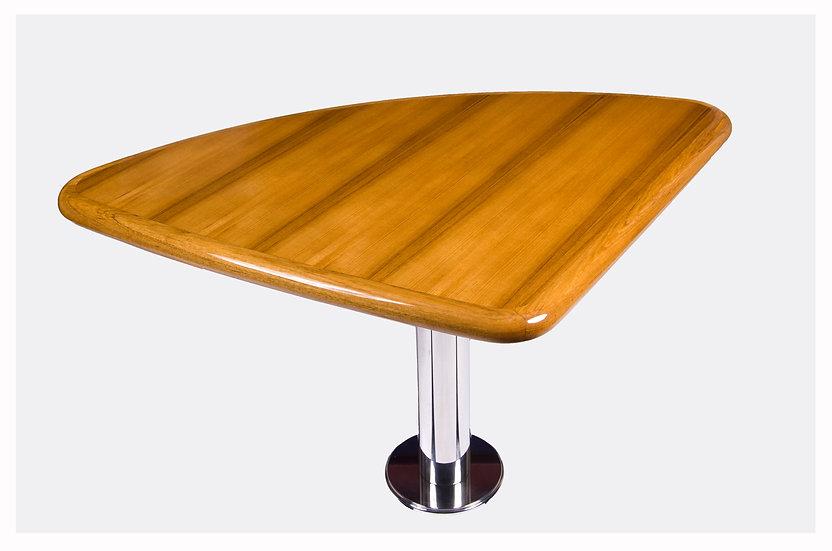 TRIANGULAR TEAK TABLE TOP