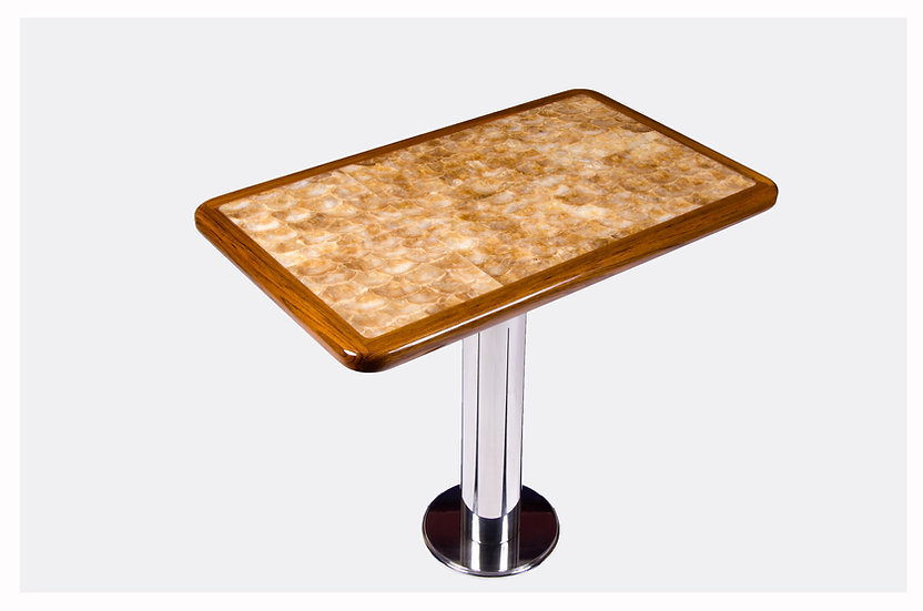 NATURAL CAPIZ SHELL TABLE TOP