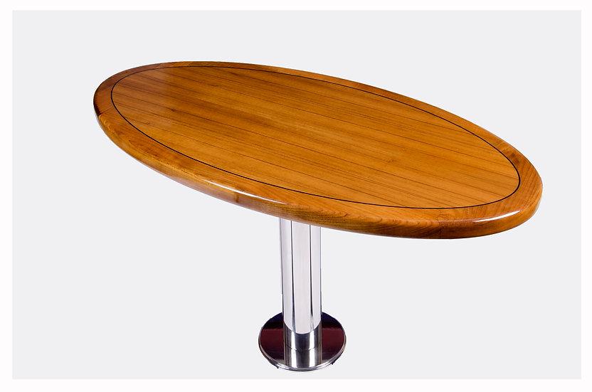 OVAL SHAPED TEAK TABLE TOP