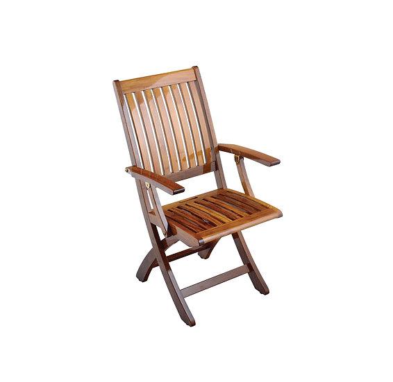 Teak Barbuda Folding Arm Chair