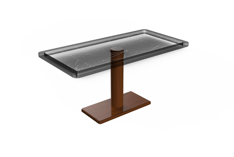Free-Standing Fixed Height Wood Pedestal