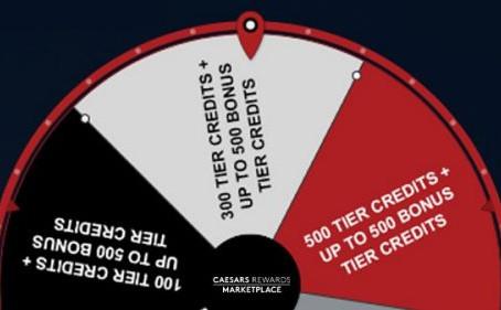 [EXPIRED] Caesars Rewards Marketplace's Spin the Wheel