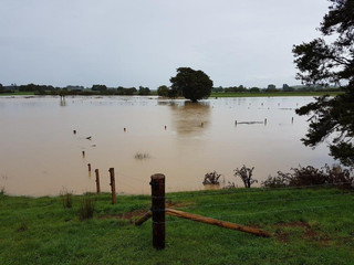 Floods slow work on Mangawara Stream