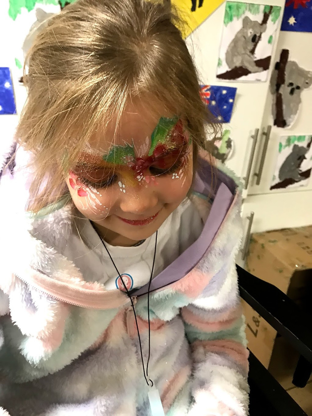 Christmas is not far away now . Not many more days face painting left before the big day