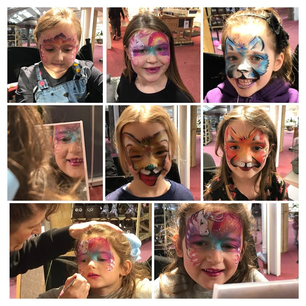Busy last weekend with face painting . Here are just  a few painted faces.