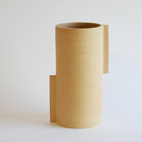 Vase totem brun - moyen modèle