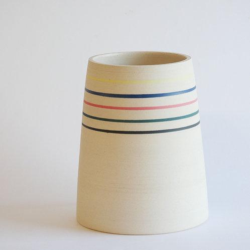 Vase à rayures colorées #1
