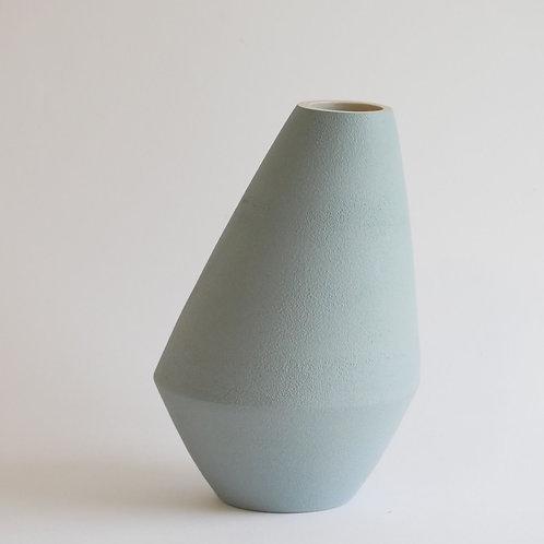 Vase asymétrique bleu clair