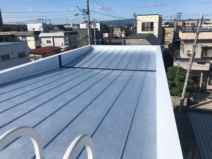 屋根葺き替え施工