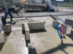 防湿コンクリート打設