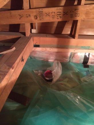 天井防湿気密処理