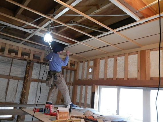 和室ラミ天井施工