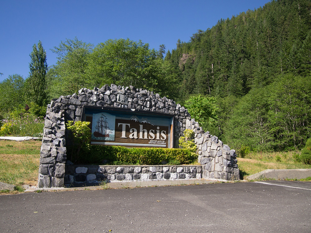 The small town of Tahsis Canada