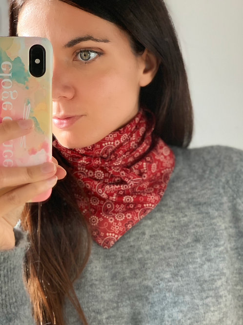 Bandana paisley rouge