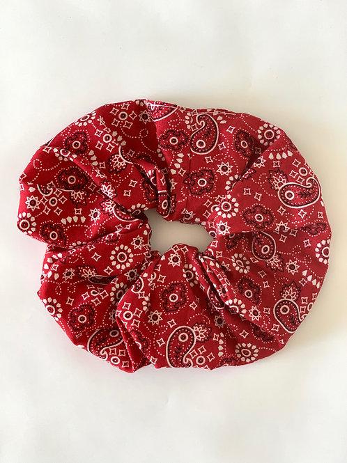 Chouchou paisley rouge