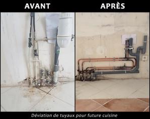 2 Deviation tuyaux cuisine