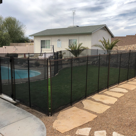 4.5 ft Brown with Black Pet Mesh Dog Run