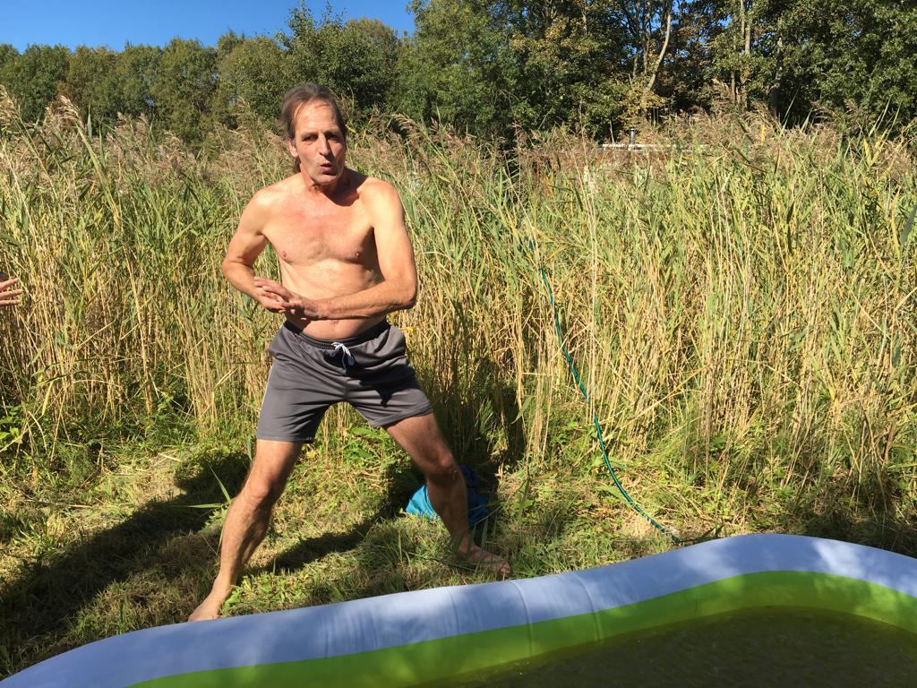 Hof Koude training Ijsbad vullen