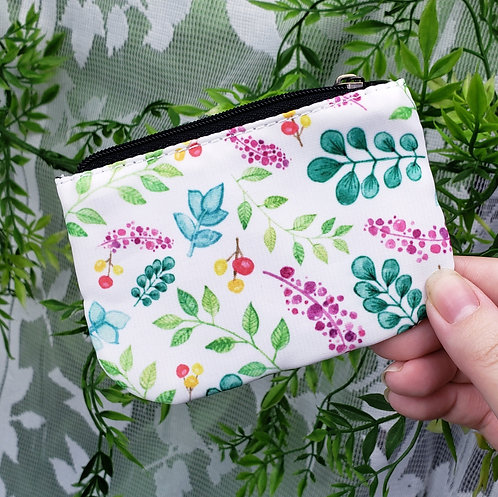 Plant Pattern Coin Purse