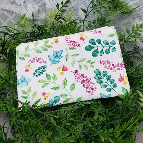 Bright Plant Pattern Zipper Pouch