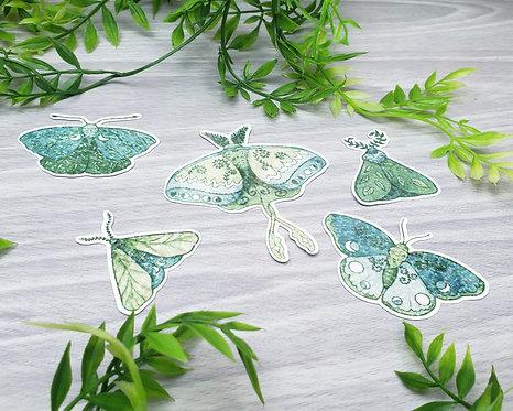 Lunar Moth Holo Sticker Set