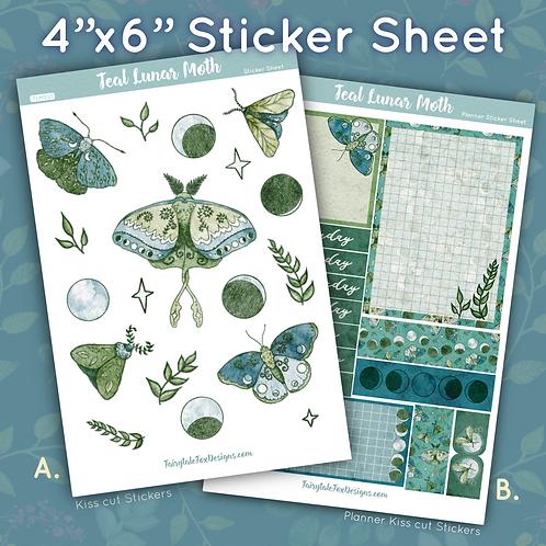 Lunar Moth Sticker Sheet