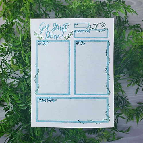 Get Stuff Done! Recycled Paper To-Do Ta-Da Notepad