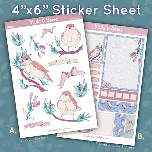 Birds & Bows Sticker Sheet