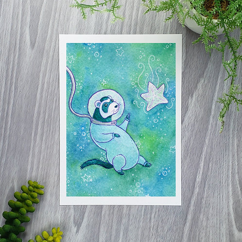 Deep Sea Ferret Fine Art Print