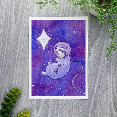 Deep Space Badger Fine Art Print