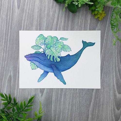 Monstera Whale Fine Art Print