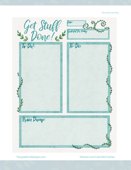 Get Stuff Done - Printable To-Do List (FREE)