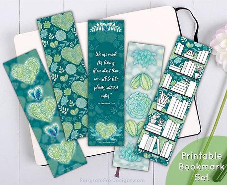 I Heart Plants Printable Bookmark Set