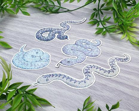 Lavender Snakes Holo Sticker Set
