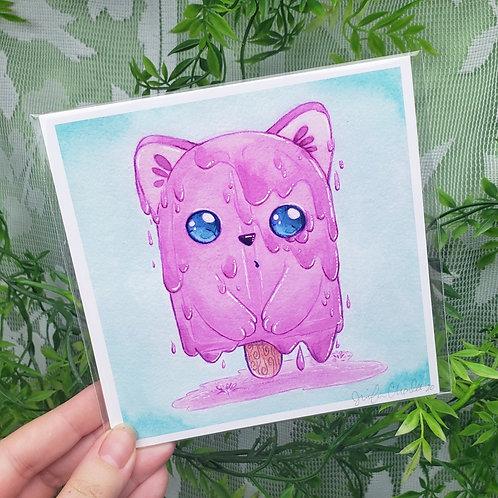 Melty Catsicle Fine Art Print