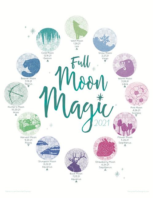 Full Moon Magic - 2021 Lunar Calendar (FREE)