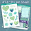 Thumbnail: I Heart Plants Sticker Sheet