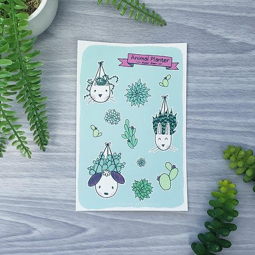 Animal Planter Sticker Sheet