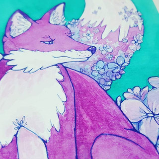 Many of you know I identify the fox as b