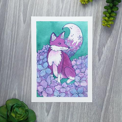 Hydrangea Fox Fine Art Print