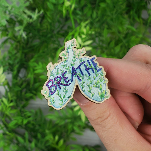 Breathe Wood Pin (Eco-Friendly🌲💕)