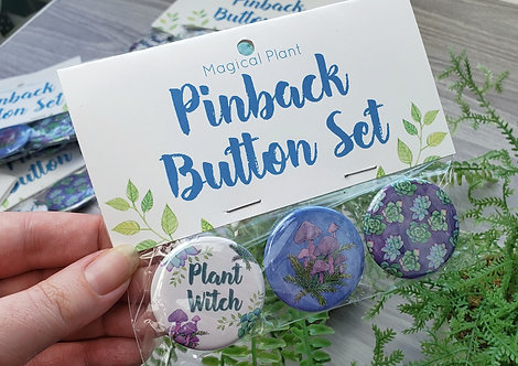 Magical Plant Button Set